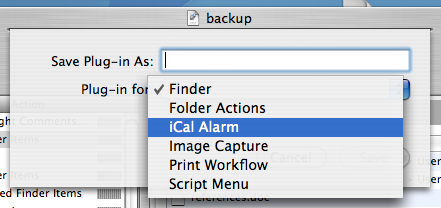 backupmakeicalalarm