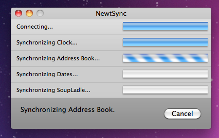 Trying NewtSync on Snow Leopard