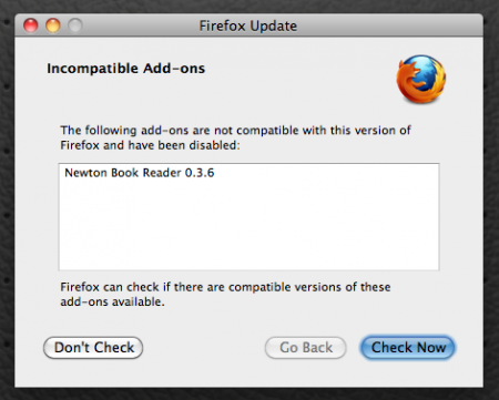 Firefox Newton eBook Reader