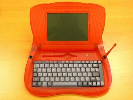 orange prototype Newton eMate