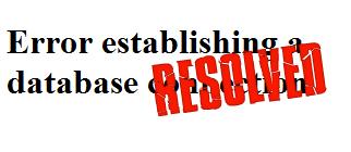 Database resolved