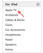 Apple TV under iPods