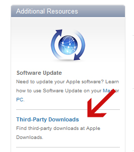 Apple Downloads link