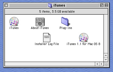 iTunes for Mac OS 8
