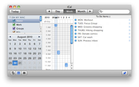 iCal One Thing Today