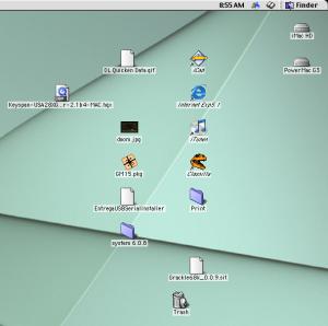 imac desktop with powermac