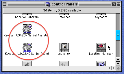 Keyspan control panels
